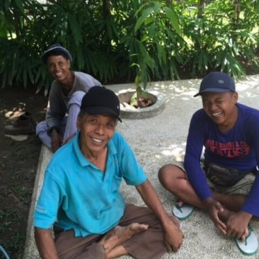 Umadawa garden maintenance team: Nyoman , Komang, Ida bagus.  Happy and healthy grew.